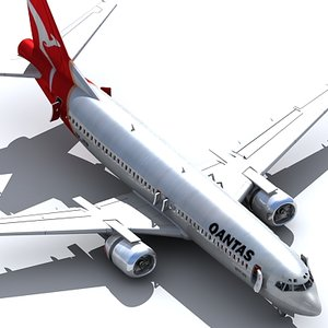 737 400 airplane 3ds