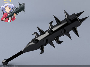 bludgeon anime weapon 3d model