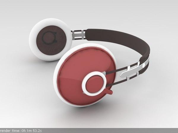 3d head phone headphones