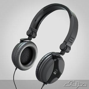 dj headphone 3d model