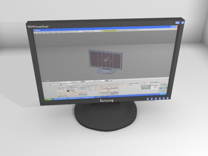 free samsung monitor 3d model