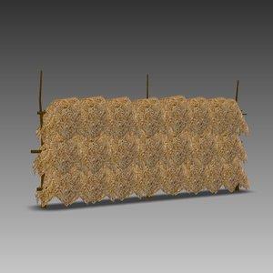 hay dry 3d model