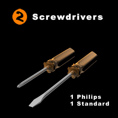 3d model of screwdrivers philips standard