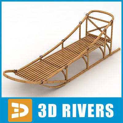 3d model traditional sledge