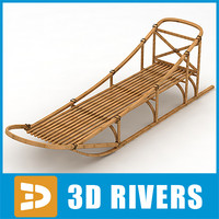3d model traditional sledge