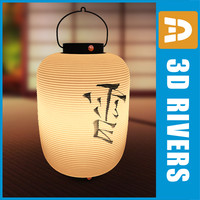 3d model of oriental lamp snow japanese interiors