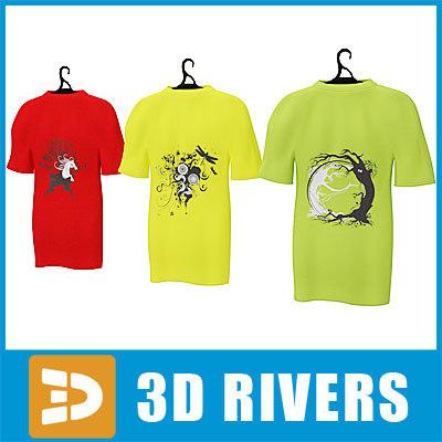 t-shirt set 3d model