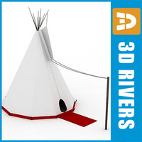 3d tepee tribes conical