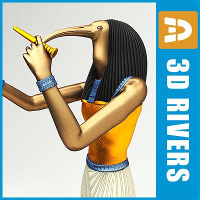 egyptian thoth 3d model