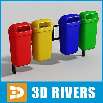 bin trash cans 3ds