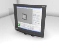 free modeled computer monitor crt 3d model