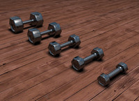 3d chrome weights model