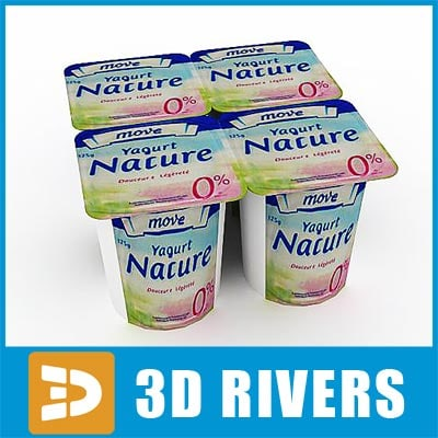 3ds max yoghurt pack