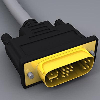 dvi cable 3d model