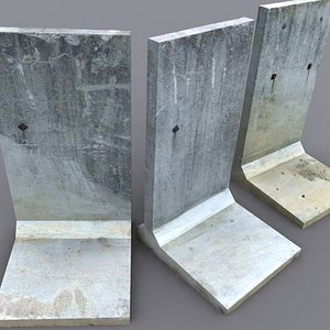 concrete barrier barracade 3d 3ds