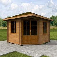 wood hause 3d model