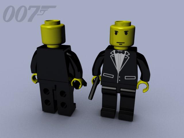 007 james bond lego 3d model