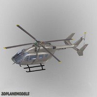 eurocopter ec helicopter aircraft 3d model
