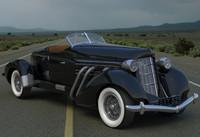 obj classic auburn car