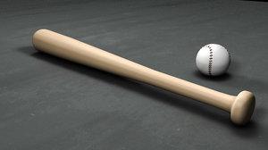 baseball bat ball c4d