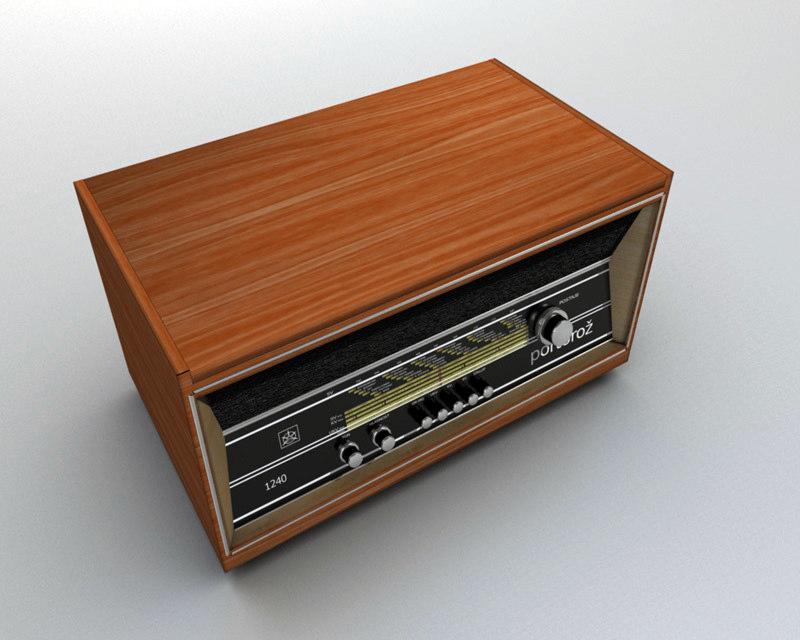 old radio obj free