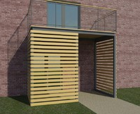 3d model contemporary solar shading screen