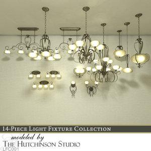 3d light fixtures lfc001 model