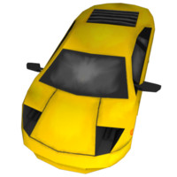 free low-poly car 3d model