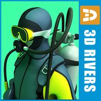 Scuba diver by 3DRivers