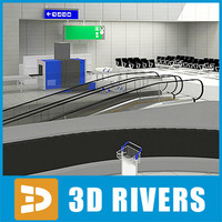 airport cart indicator 3d 3ds