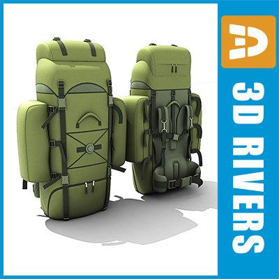 3dsmax military backpack bags
