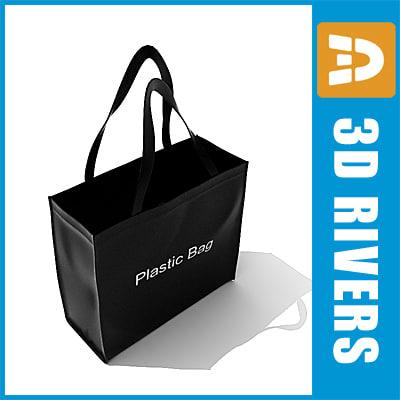 canvas bag 3d model