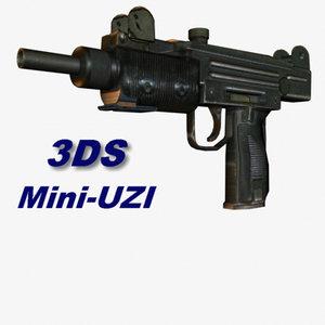 3ds max uzi miniuzi