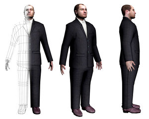 male character 3d max