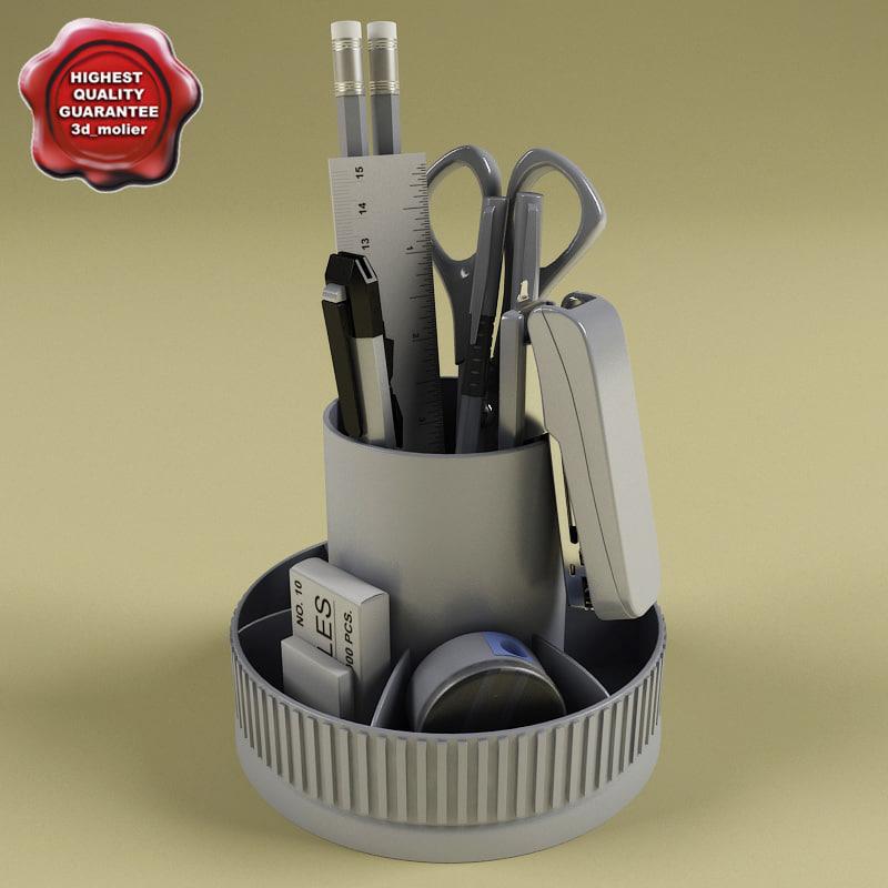 pen holder v3 3d model