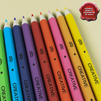 pencils colors 3d model