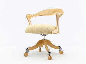 3d model storica chair ceccotti