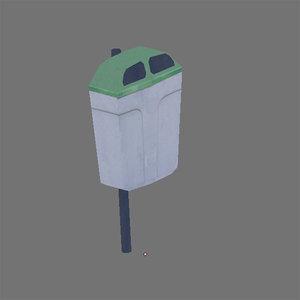 free trashcan 3d model