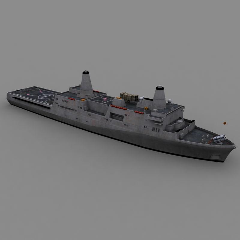 3d san antonio destroyer