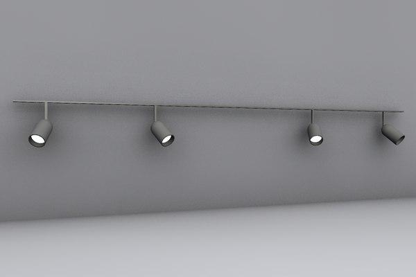 track lighting 3d obj