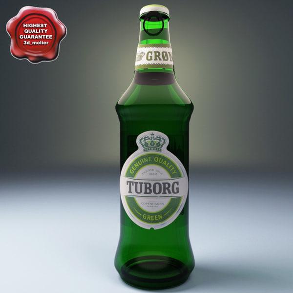 beer tuborg 3d model