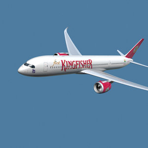 3d a350-900 kingfisher