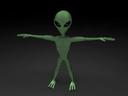 ma little green alien