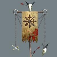 free flag banner 3d model