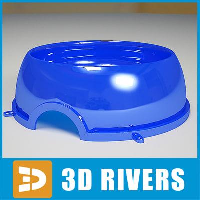 3d plastic dog bowl model