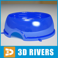 3d plastic dog bowl model