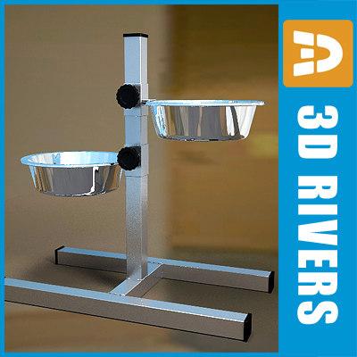 3d steel dog bowl