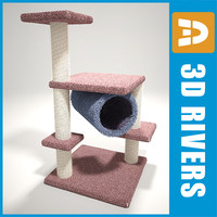 cat scratching post 3d model