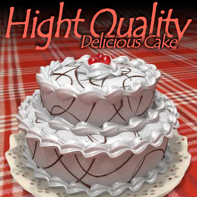 cake chocolate cherries 3d obj