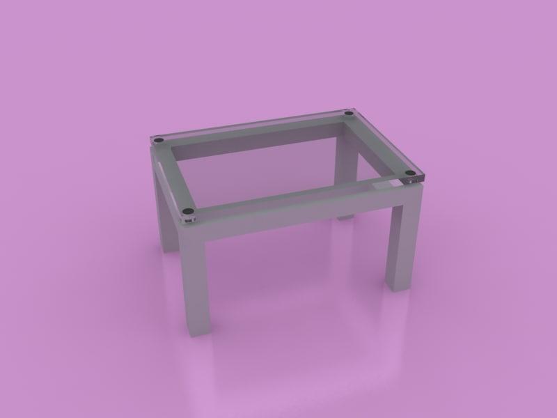 3d coffe table office model